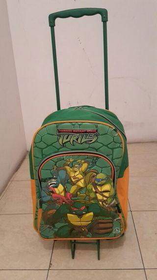 Mochila Tortugas Ninja con ruedas