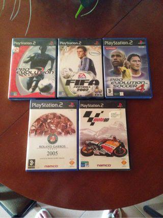 Vendo 5 juegos de la Playstation 2