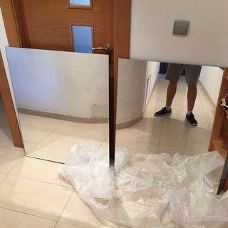 2 espejos nuevos 80x100cm!