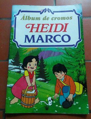 Album de cromos heidi y marco