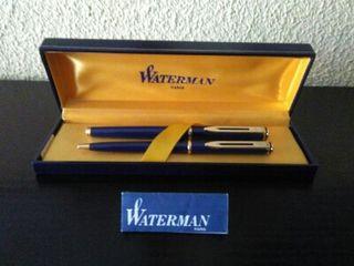 Pluma estilográfica y bolígrafo. Marca WATERMAN.