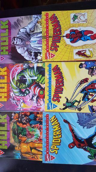 Comic Spiderman y Hulk