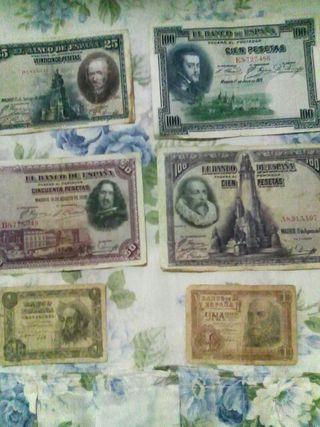 Lote billetes republicanos antiguos