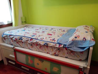 2 Sacos nordicos para cama de 90 con cremallera fuelle y relleno