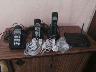 Telefonos cables y ruter