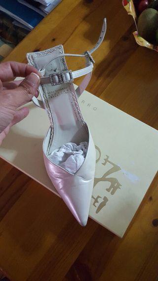 Zapatos novia sara navarro
