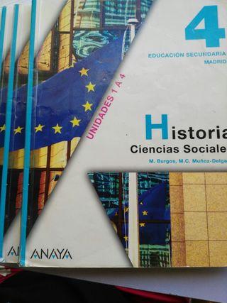 Historia ciencias sociales 4° ESO