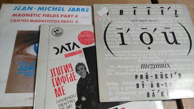 13 MAXISINGLES DE VINILO DEL TECNO DE LOS 80
