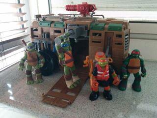 Camión con tortugas ninja