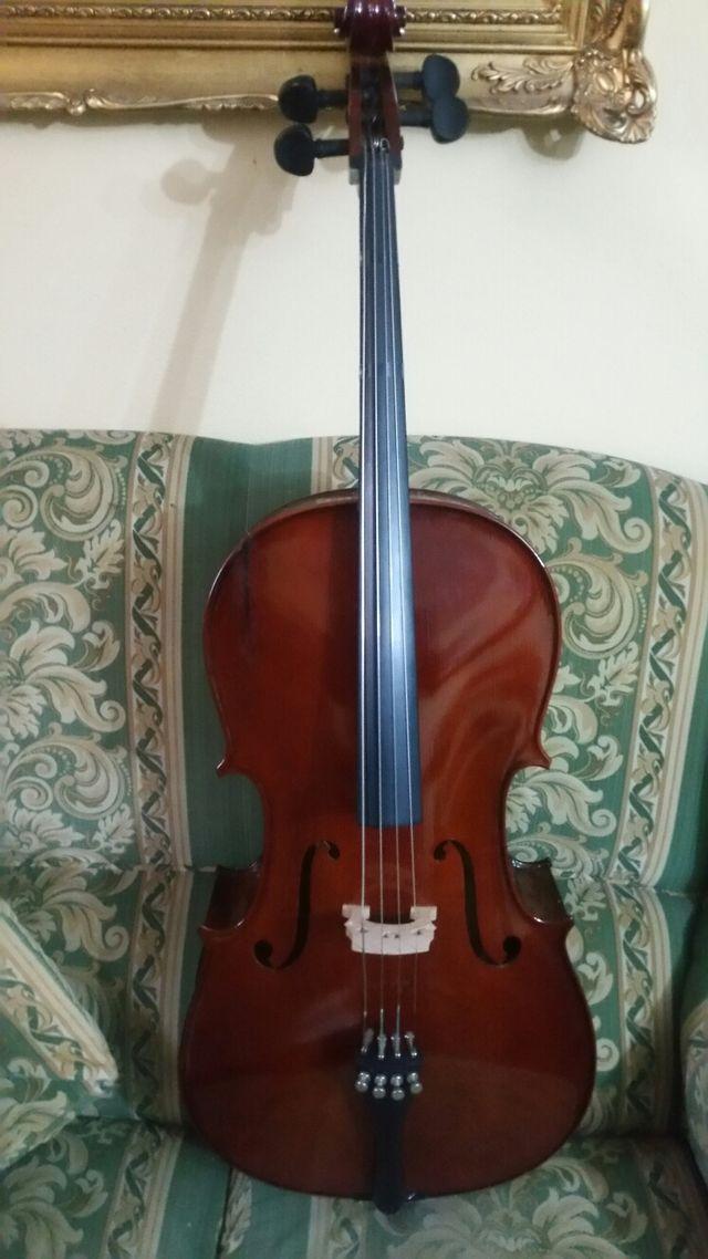 Violonchelo / cello palatino con funda 3/4