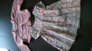 Vestido y torerita de bebé, de zara
