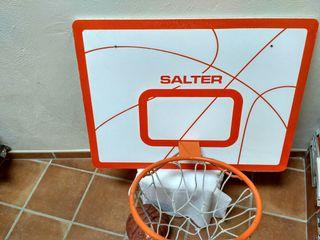 Canasta Salter + pelota Spalding NBA