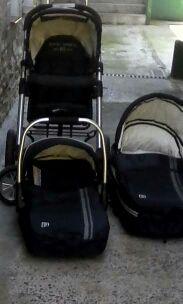 Conjunto capazo, cuco y silla