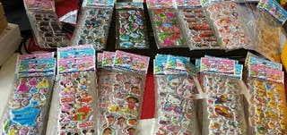 Pegatinas stickers adhesius enganxines infantiles infantils