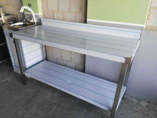 Mesa de trabajo nueva acero inox 1500