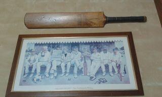 Pala de cricket +cuadro vintage