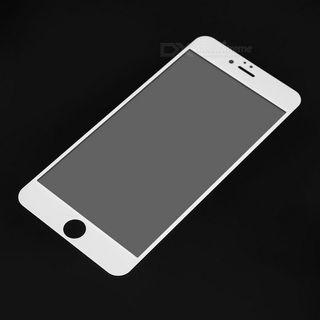 Protector de Pantalla Completa Vidrio Templado Protector de Pantalla para iPhone 6 4.7 (Blanco