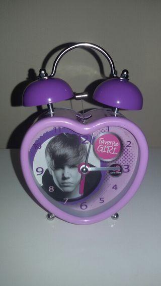 Reloj de de sobremesa Justin Bieber