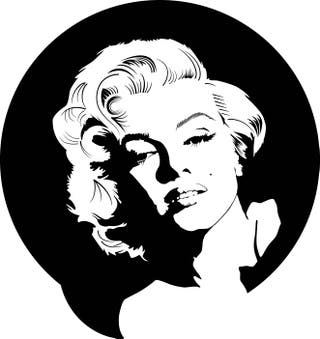 Vinilo Marilyn Monroe pegatina pared