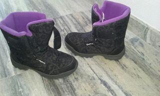 Botas de la nieve negras quechua Talla 37