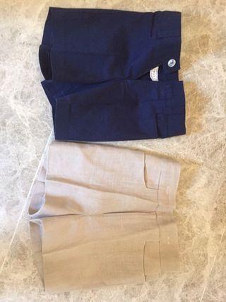Pantalones Cortos de hilo Para Niño talla3
