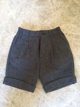 Pantalon Corto Niño Gris Marengo talla 2-3 Años