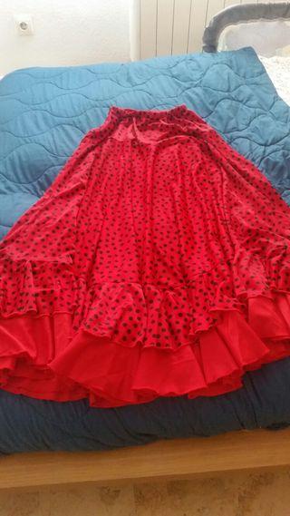 Falda Flamenco Mujer Talla M. Equivalente 38