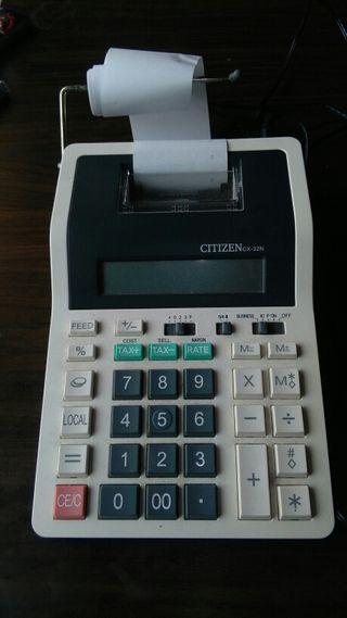 Calculadora registradora con ticket