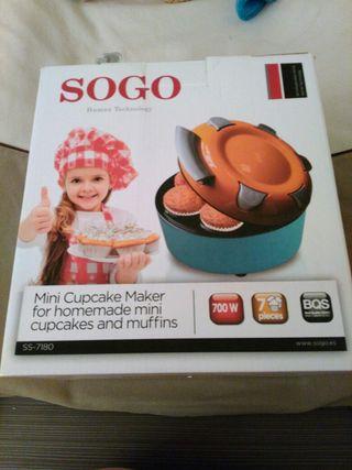 Maquina para hacer mini cupcukes y magdalenas.