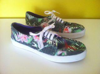 Zapatillas Zara Estampado Tropical 40