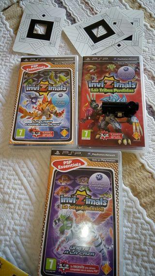 Juegos psp invizimals 3 tarjetas
