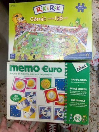 Juego memoria y regalo puzzle