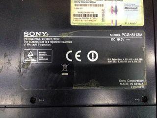Portátil Sony vaio PCG-8112M