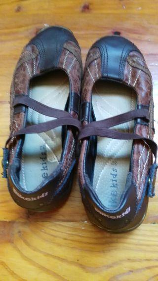 Zapatos piel niña 32