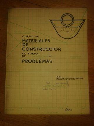 CURSO DE MATERIALES DE CONSTRUCCION EN FORMA DE PROBLEMAS. 1970, usado segunda mano  España