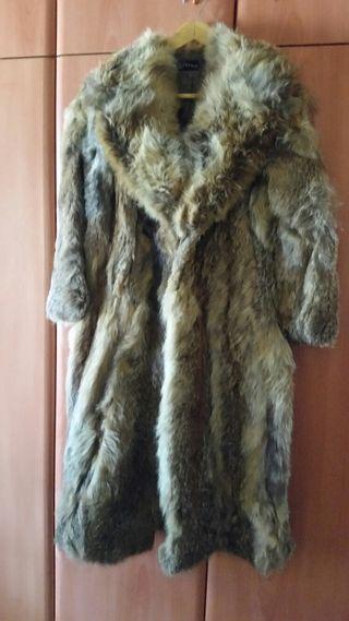 Abrigo piel de zorro.