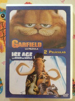 GARFIELD - ICE AGE La Edad de Hielo 2DVD