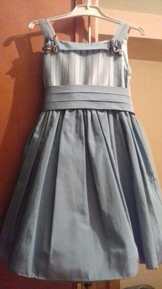 Vestido ceremonia azul nina