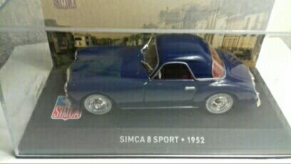 ESCALA 1:43 ANTIGUO SIMCA 8 SPORT BIPLAZA 1952