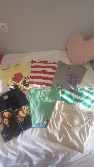 Pack de 6 camisetas seminuevas