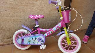 Bicicleta niña 12 pulgadas minnie