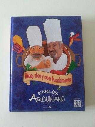 libro de cocina; rico, rico y con fundamento de Karlos Arguiñano