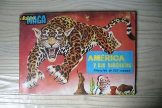 1968. Álbum de cromos. AMÉRICA y sus habitantes.