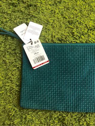 Cluch verde agua de mango bolso pequeño de mano