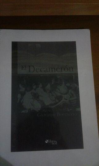 """Libro """"el decameron"""""""