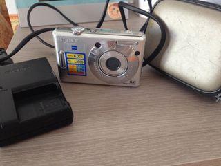 Cámara digital Sony cibershot con funda y cargador