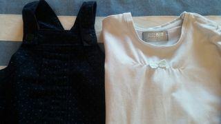 Conjunto de pichi y camisa.T/6-9meses
