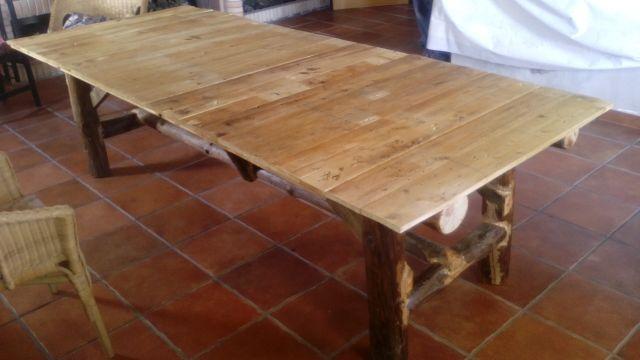Mesas rusticas de segunda mano por 275 en puertollano for Wallapop mesas