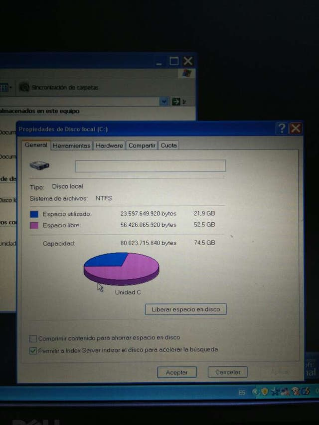 Portátil Dell, Intel centrino 1,66Ghz 1Gb RAM Duo, Windows