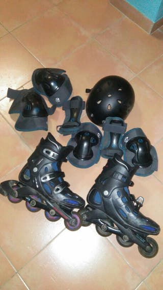Lote patines en linea adulto